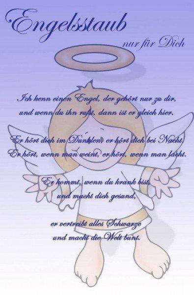 Engelsstaub mit Urkunde - Violett