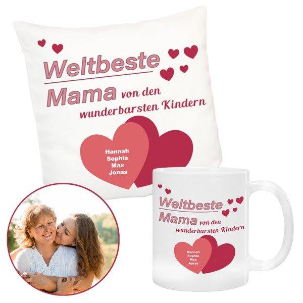 Geschenkset - Weltbeste Mama mit Personalisierung