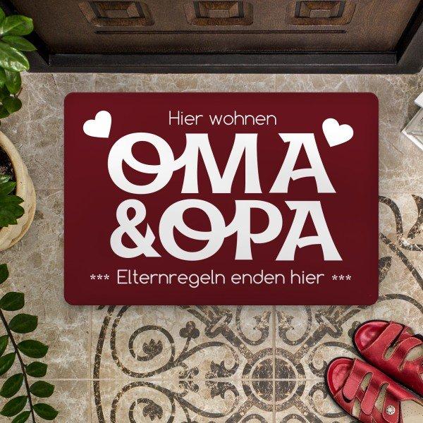 Fußmatte - Oma und Opa - Elternregeln enden hier
