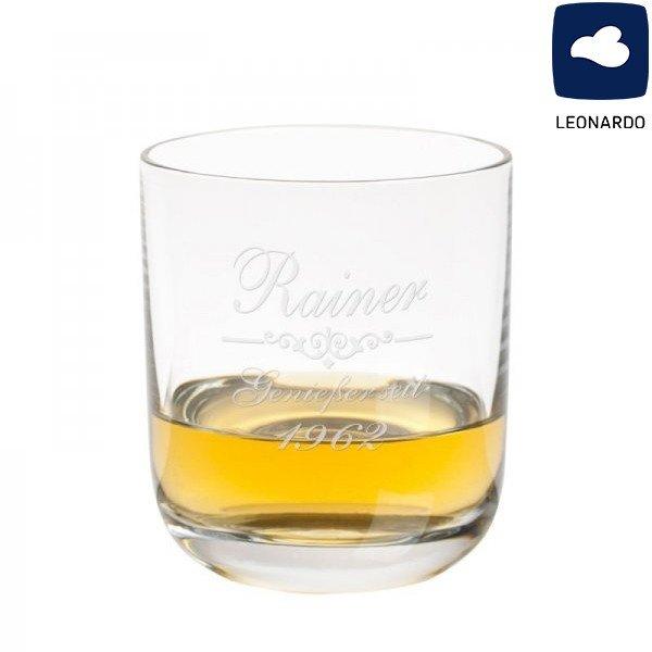 Whiskyglas von Leonardo mit Gravur