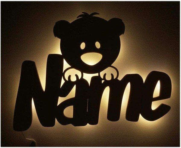 - Nachtlicht Teddy mit Namen - Onlineshop Geschenke24