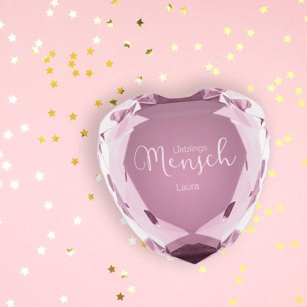Herz-Diamant Lieblingsmensch mit Personalisierung