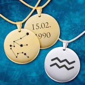 Halskette - Sternzeichen mit Personalisierung