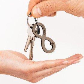 Schlüsselanhänger Infinity mit Gravur