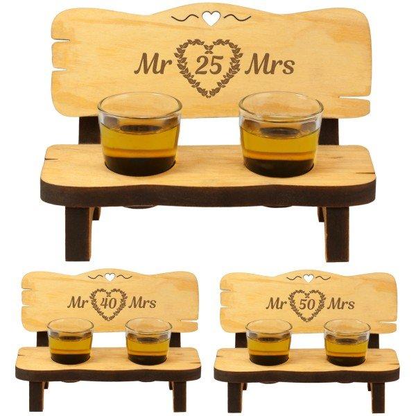 Schnapsbank zum Hochzeitstag - Mr & Mrs
