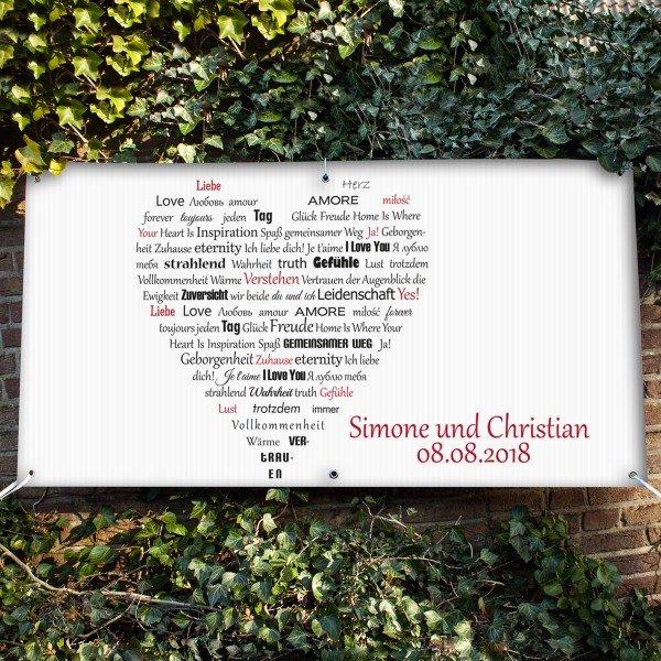 Banner - Herz aus Worten