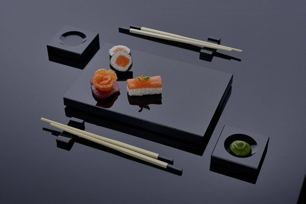 7-teiliges Sushi Geschirr-Set - Cristal Noir Paris