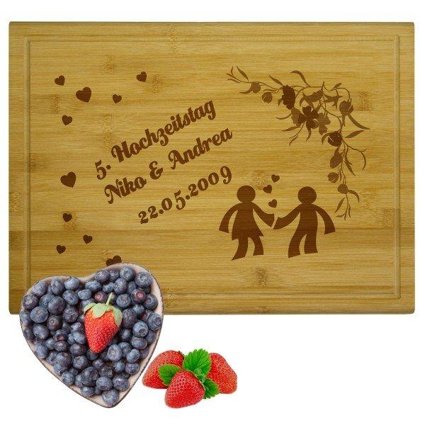 Holzbrettchen - Liebespaar
