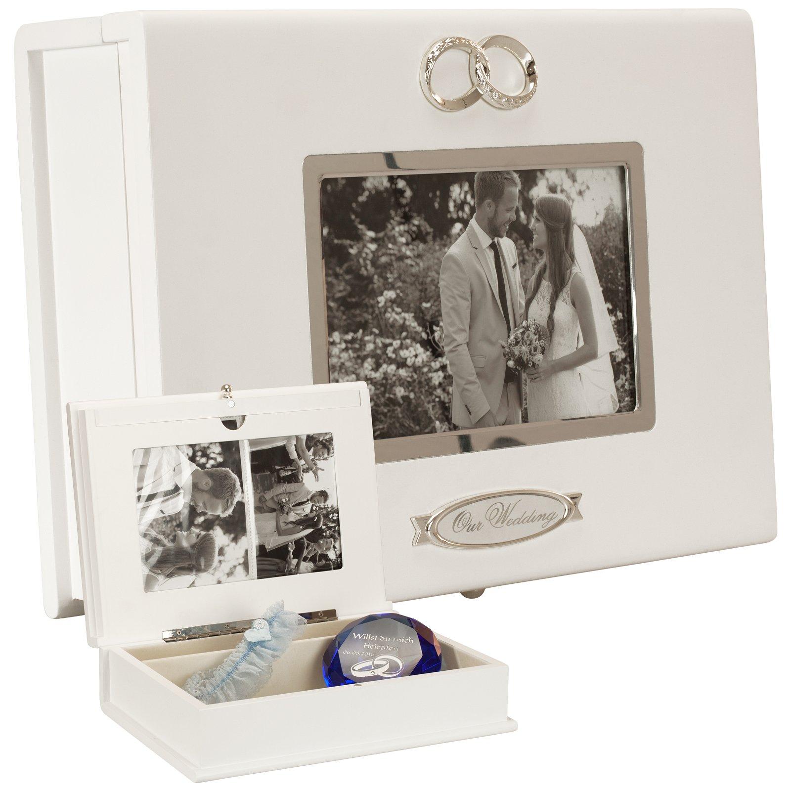 Hochzeitsbox mit Fotorahmen