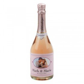 Schlumberger Rose Sektflasche mit Personalisierung