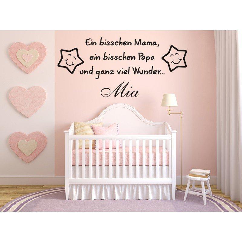 Wandtattoo Fur Baby Mit Name Ein Bisschen Mama Papa