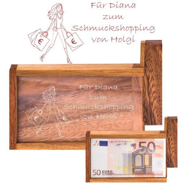 Magische Geldgeschenkebox Shopping Queen