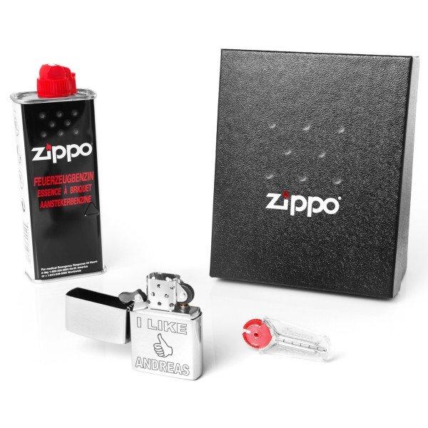 Zippo mit Gravur - I LIKE