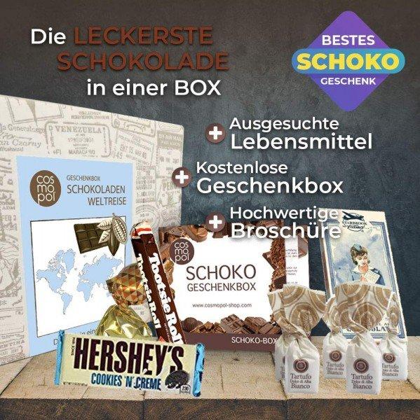 Geschenkebox - Schokoweltreise