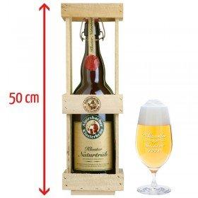 2 Liter-Bierflasche mit Gravur