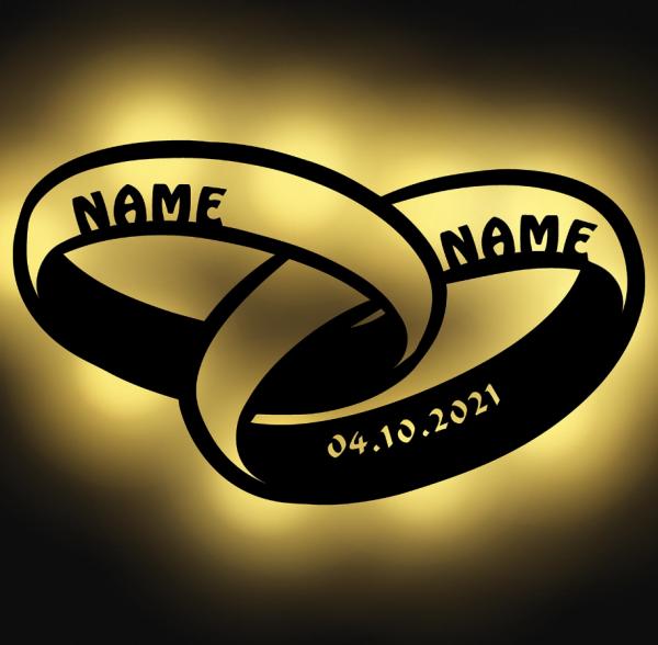 - Holzleuchte Ringe mit Personalisierung - Onlineshop Geschenke24