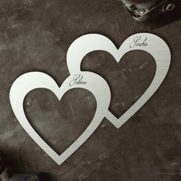 Zwei vereinte Herzen mit Personalisierung