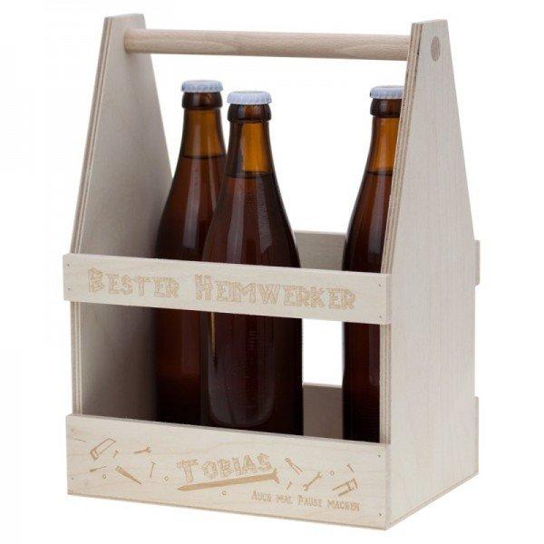 Bier-Werkzeugkasten mit Gravur