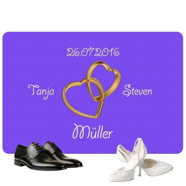 Fußmatte - Ringe mit Personalisierung
