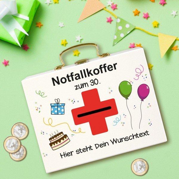 Geldkoffer - Notfallkoffer zum Geburtstag