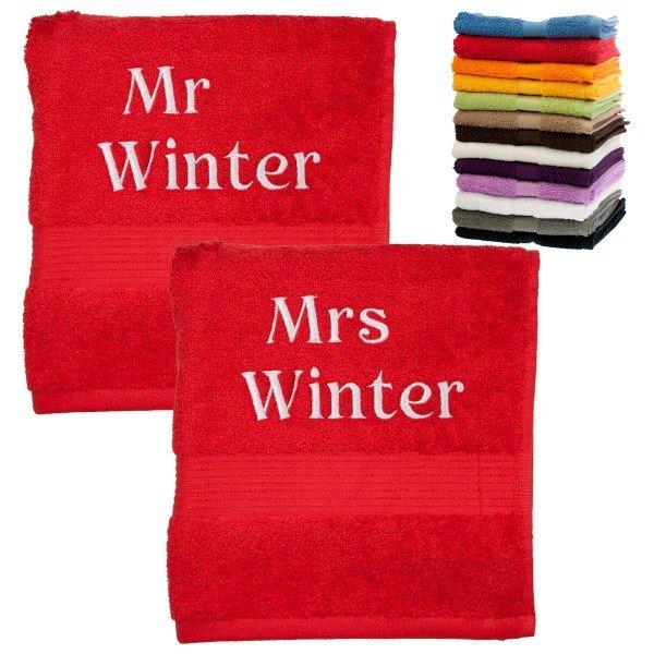 Handtuch-Set - Mr und Mrs
