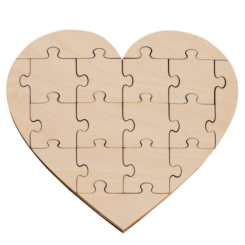 Holz Puzzle Herz Klein