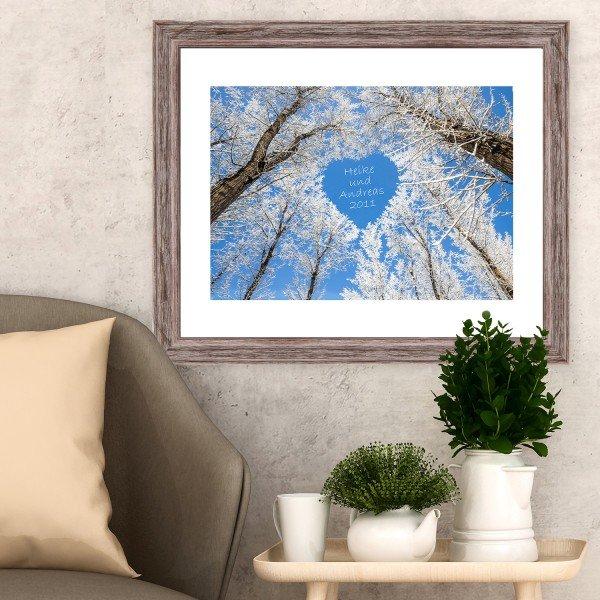 - Wandbild Winterzauber mit Personalisierung - Onlineshop Geschenke24