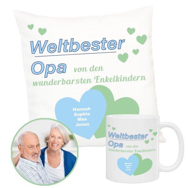 Geschenkset - Weltbester Opa mit Personalisierung