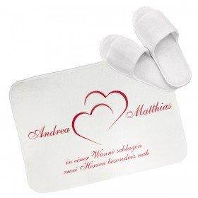 Badvorleger Herzen mit Personalisierung