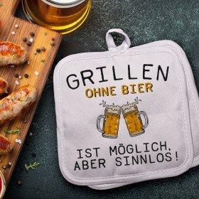 Topflappenset - Grillen ohne Bier