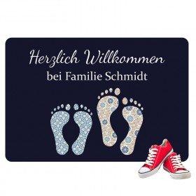 Fußmatte Füße mit Namen