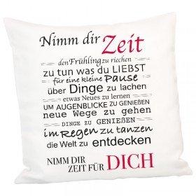 Kissen - Nimm Dir Zeit