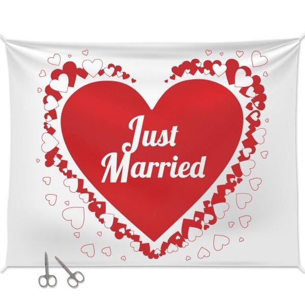Hochzeitsherz zum Ausschneiden mit 2 Scheren