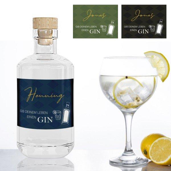 Gin mit persönlichem Etikett
