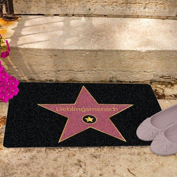 Fußmatte Walk of Fame - Lieblingsmensch