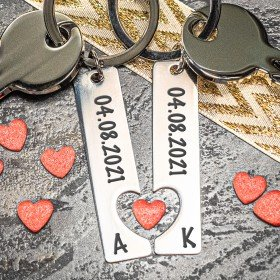 Personalisierter Schlüsselanhänger für Paare