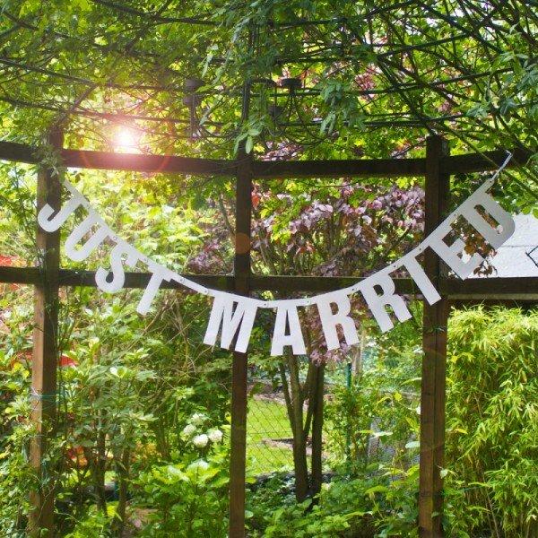 Hochzeitsgirlande - Just Married