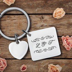 Schlüsselanhänger mit Herz - Romantik
