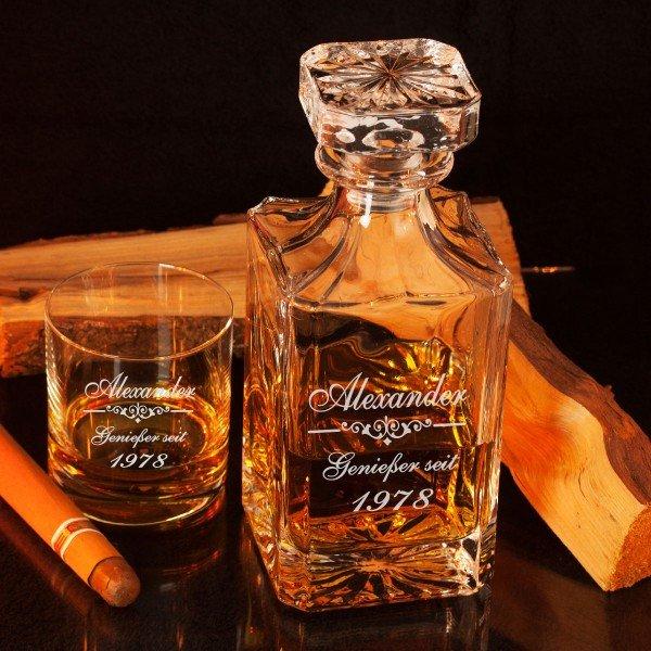 Whiskykaraffe Luxus mit Gravur
