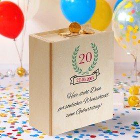 Sparbuch zum Geburtstag mit Personalisierung