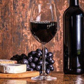 Leonardo Rotweinglas mit Personalisierung