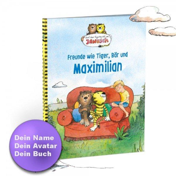 Personalisiertes Kinderbuch - Janosch - Tiger & Bär und Du