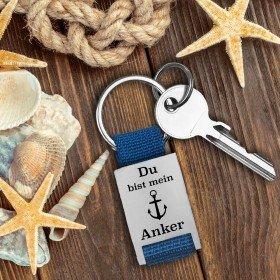 Schlüsselanhänger - Du bist mein Anker mit Personalisierung