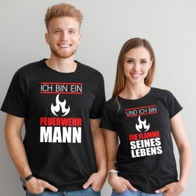 Partner T-Shirts - Ich bin ein Feuerwehrmann