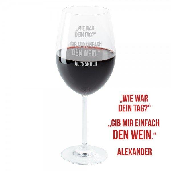 - Weinglas Dein Tag - Onlineshop Geschenke24