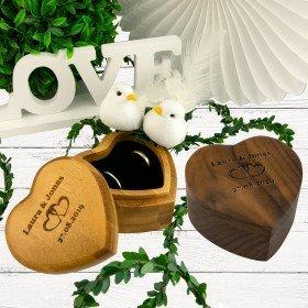 Herz - Ringbox mit Gravur