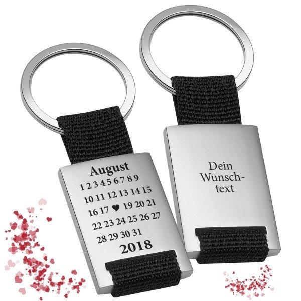 Schlüsselanhänger Schönster Tag mit Gravur
