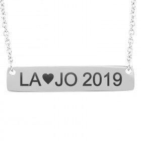 Halskette mit gravierten Anfangsbuchstaben