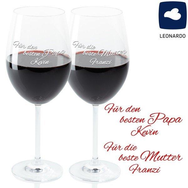Weinglas-Set - Beste Eltern