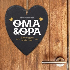 Schieferherz - Oma und Opa - Elternregeln enden hier